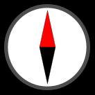 Kompass zum Testen der Auswertung der Lagesensoren von Handy